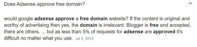 Does Adsense Approves Free Domain?