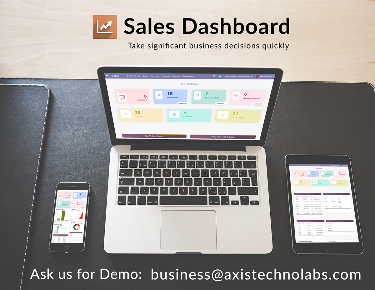 Sales Dashboard Odoo Module
