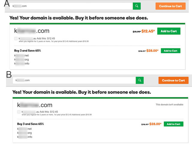 godaddy cant commit