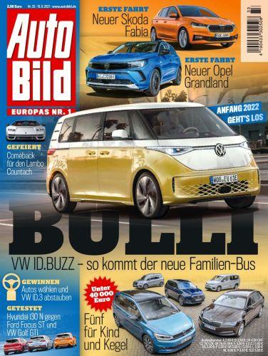 Cover: Auto Bild Magazin No 33 vom 19  August 2021