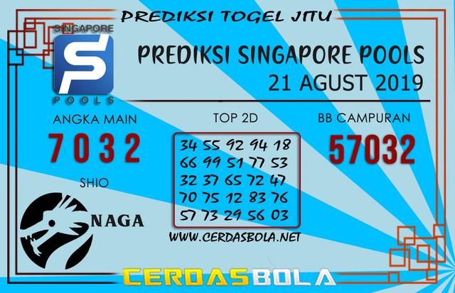 """Prediksi Togel """"SINGAPORE"""" CERDASBOLA 21 AGUSTUS 2019"""