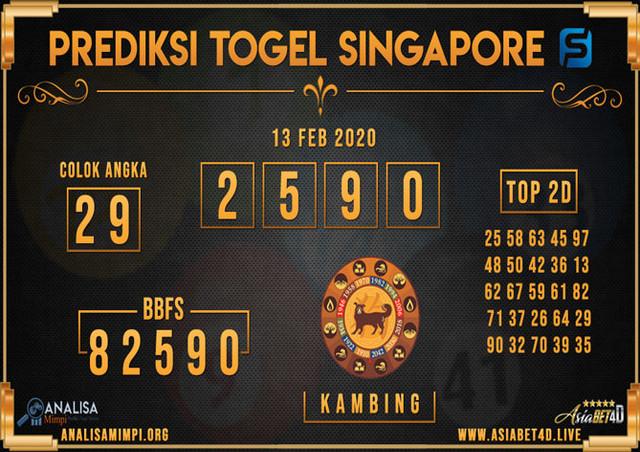 PREDIKSI TOGEL SINGAPORE ASIABET4D MINGGU 09 FEB 2020