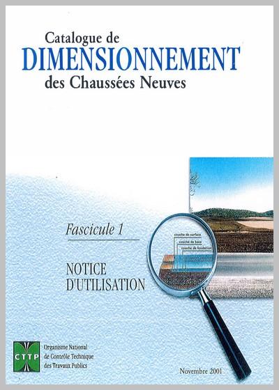 Catalogue de dimensionnement des chaussées neuves