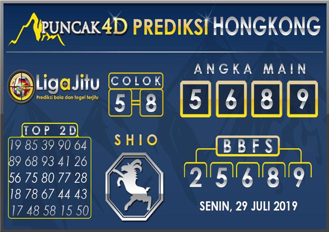 PREDIKSI TOGEL HONGKONG PUNCAK4D 29 JULI 2019