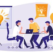 businessmen-elegant-in-the-workplace-vector-illustration-design