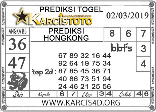 Prediksi Togel HONGKONG KARCISTOTO 02 MARET 2019