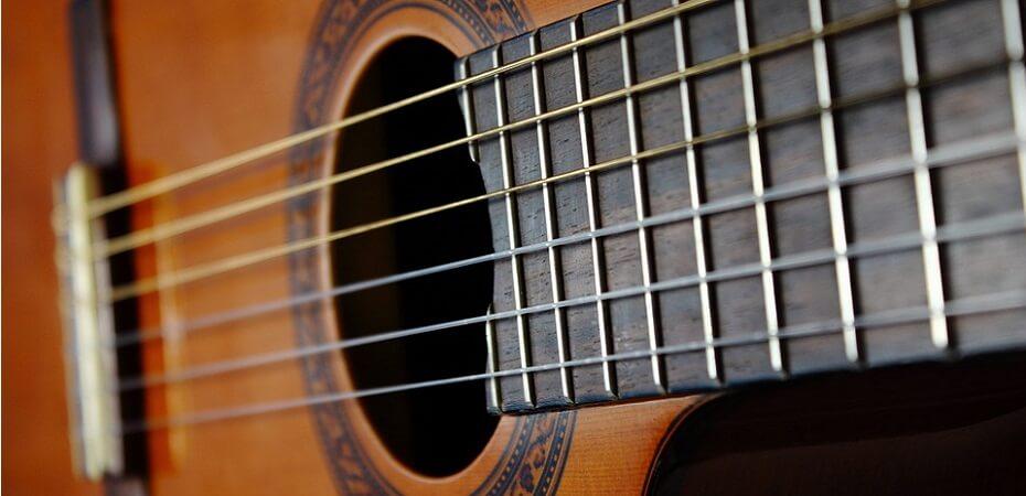 cuerdas guitarra - partes de la guitarra