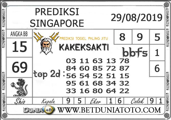 """Prediksi Togel """"SINGAPORE"""" DUNIA4D 29 AGUSTUS 2019"""
