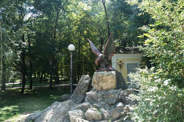 Ессентуки, достопримечательности, Курортный парк, бювет, минеральная вода, что посмотреть в Ессентуках, орел