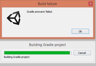 Gradle Prewarm Failed in Unity 2018 3 3f1 - Unity Forum