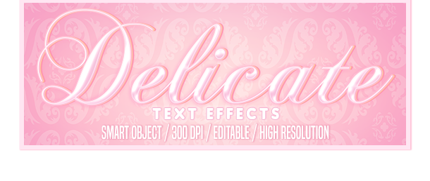 Delicate Photoshop text effects