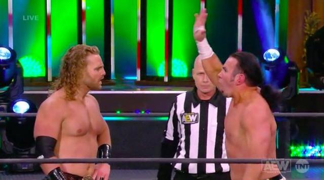 Hangman Page y Matt Hardy derrotó a Luther y Serpentico AEW 3 Febrero