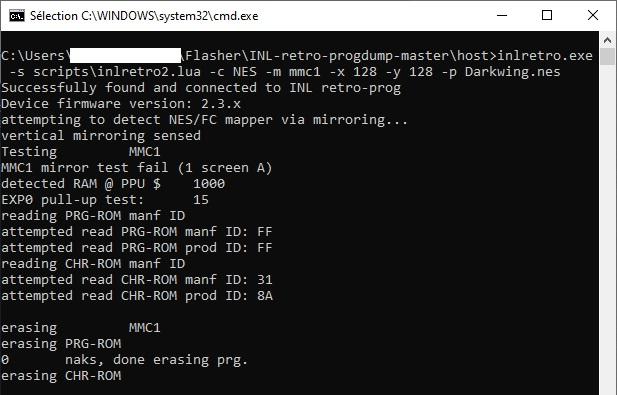 Retro PROGRAMMER DUMPER v2.0N et cartouche NES vierge, comment faire M
