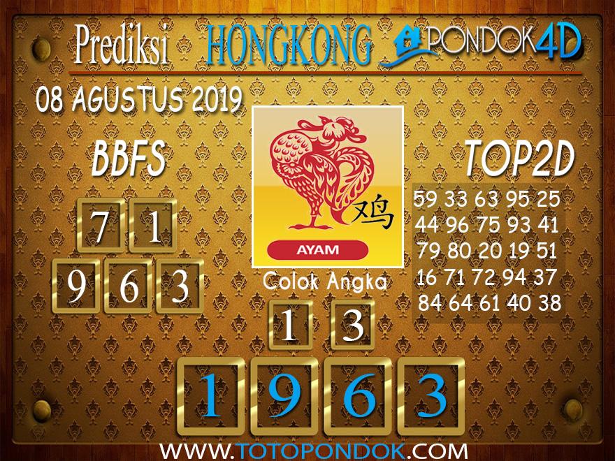 Prediksi Togel HONGKONG PONDOK4D 08 AGUSTUS 2019