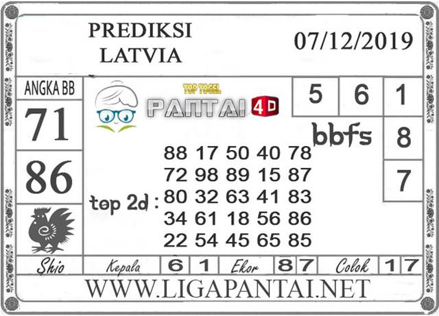 PREDIKSI TOGEL LATVIA PANTAI4D 07 DESEMBER 2019