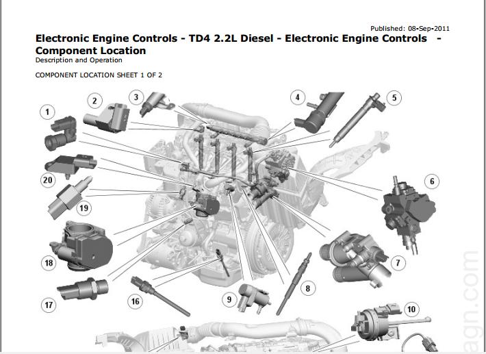 [SODI_2457]   Range Rover Evoque (L538; 2011–2013) Workshop Manual + Wiring Diagrams -  MHH AUTO - Page 1 | Rover Engine Diagrams |  | MHH AUTO