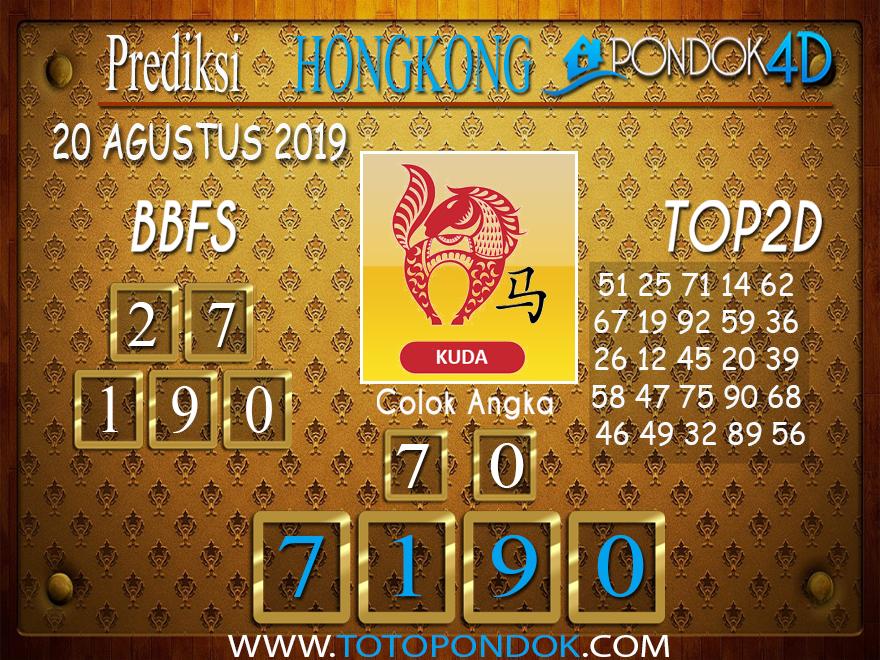 Prediksi Togel HONGKONG PONDOK4D 20 AGUSTUS 2019