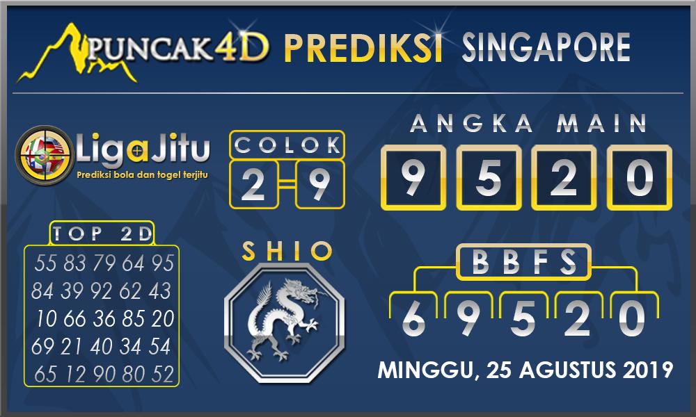 PREDIKSI TOGEL SINGAPORE PUNCAK4D 25 AGUSTUS 2019