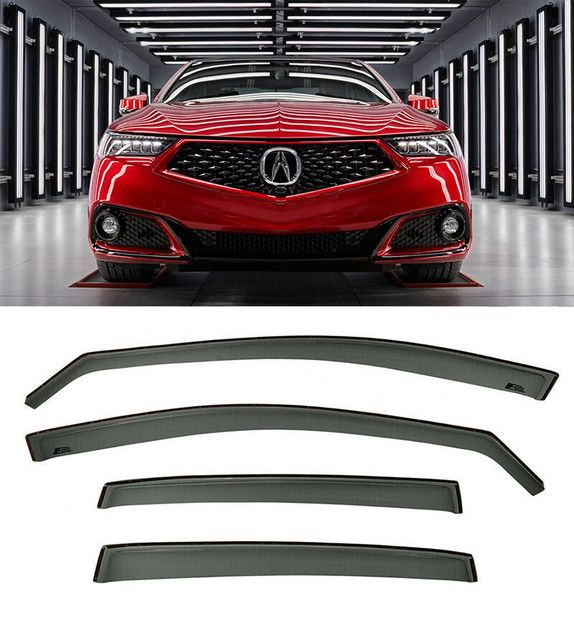 For 15-Up Acura TLX Side Window Deflectors JDM Rain Guards