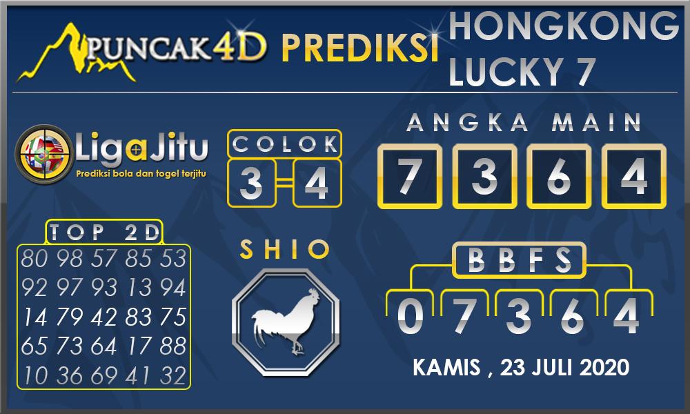 PREDIKSI TOGEL HONGKONG LUCKY7 PUNCAK4D 23 JULI 2020