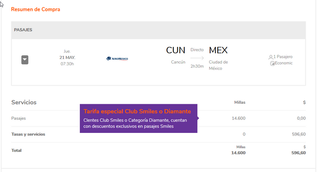 https://www.smiles.com.ar/emission?originAirportCode=CUN&destinationAirportCode=MEX&departureDate=1590012000000&adults=1&children=0&infants=0&isFlexibleDateChecked=false&tripType=2&currencyCode=BRL