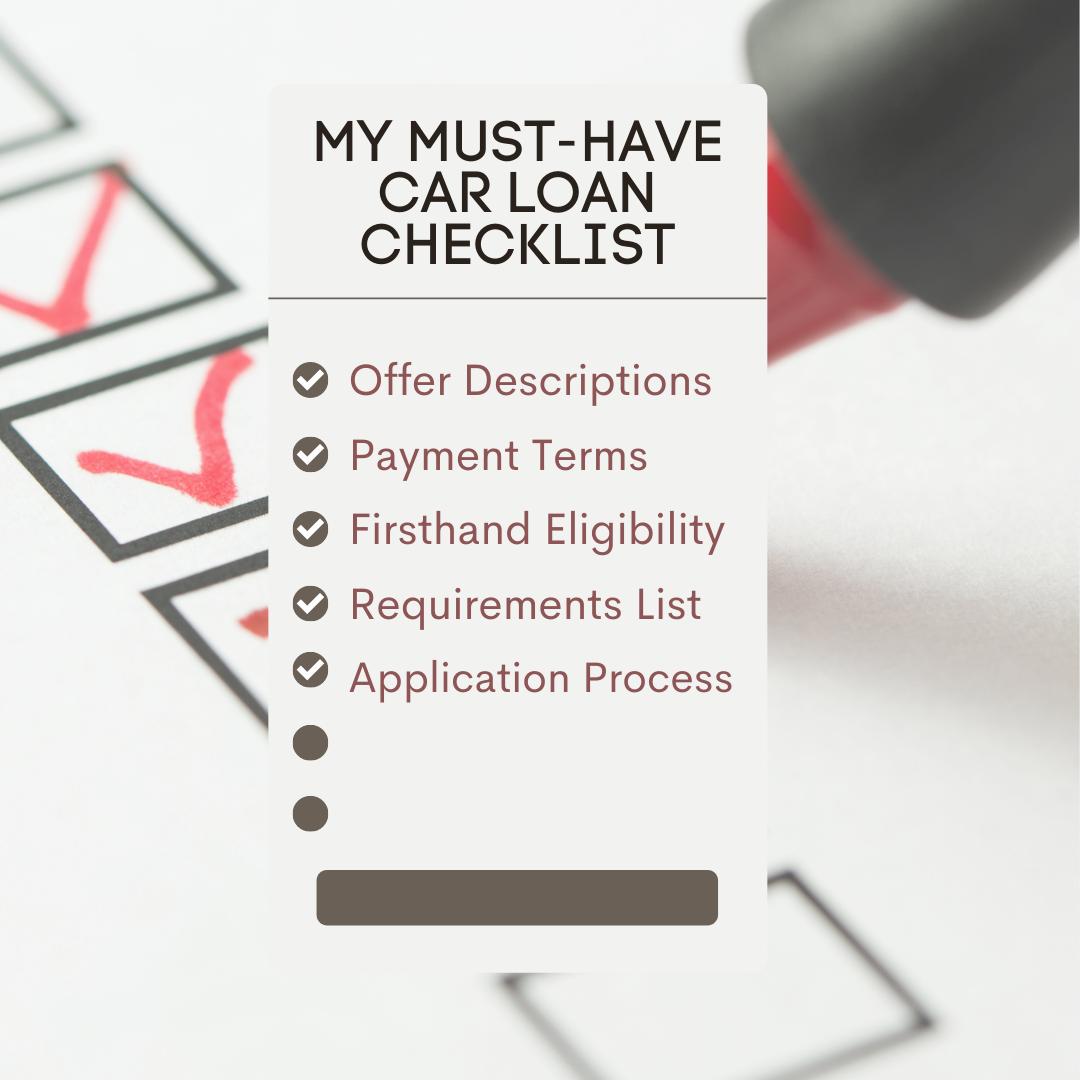 My-Must-Have-Car-Loan-Checklist