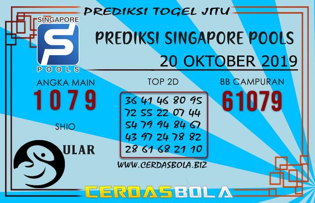 "Prediksi Togel ""SINGAPORE"" CERDASBOLA 20 OKTOBER 2019"