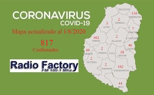 Cifras en aumento: 13 nuevos casos de coronavirus en Entre Ríos