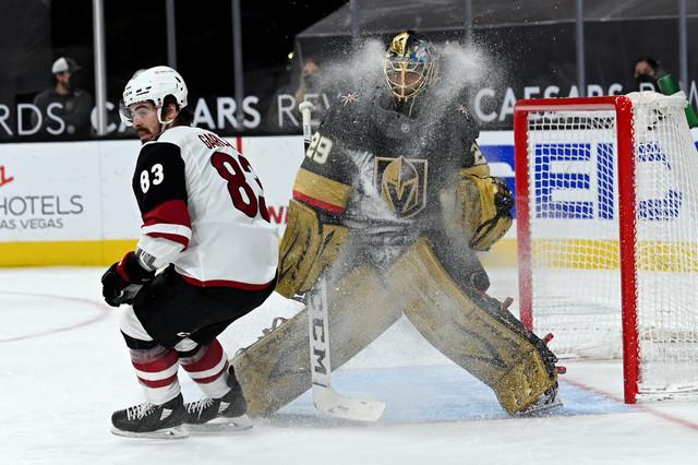Apr-11-2021-Las-Vegas-Nevada-USA-Vegas-Golden-Knights-goaltender-Marc-Andre-Fleury-29-is-sprayed-wit
