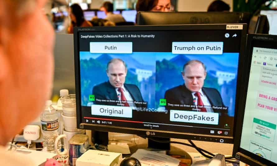 Comparing original and deepfake videos of Russian president Vladimir Putin
