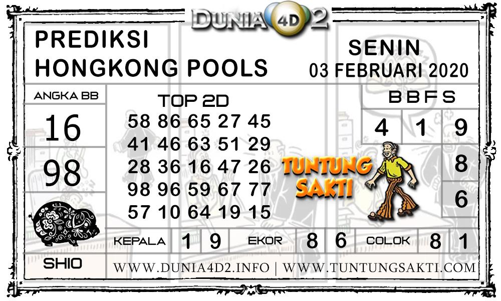 Prediksi Togel HONGKONG DUNIA4D2 03 FEBRUARI 2020