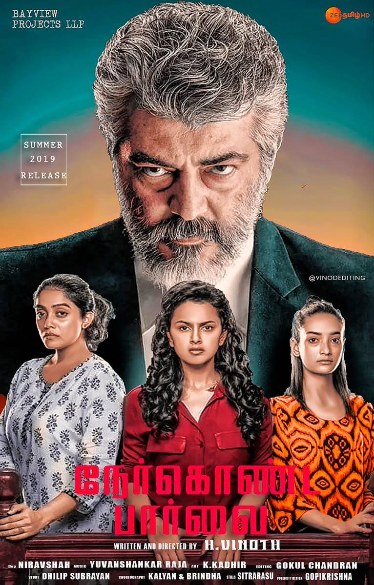 Nerkonda Paarvai (2019) Hindi Dubbed Movie HDRip 720p AAC