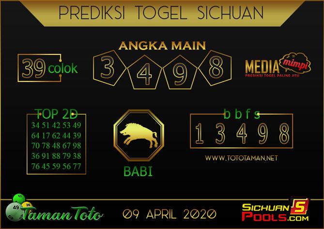 Prediksi Togel SICHUAN TAMAN TOTO 09 APRIL 2020