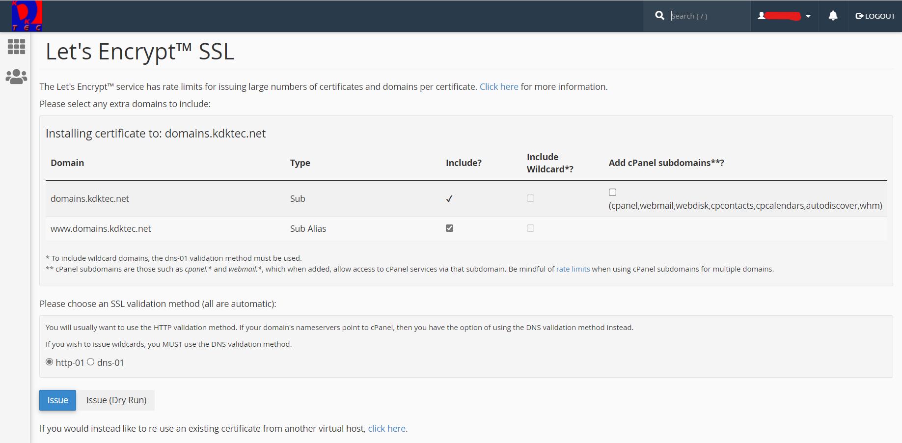 Let's Encrypt SSL certificate validation methods