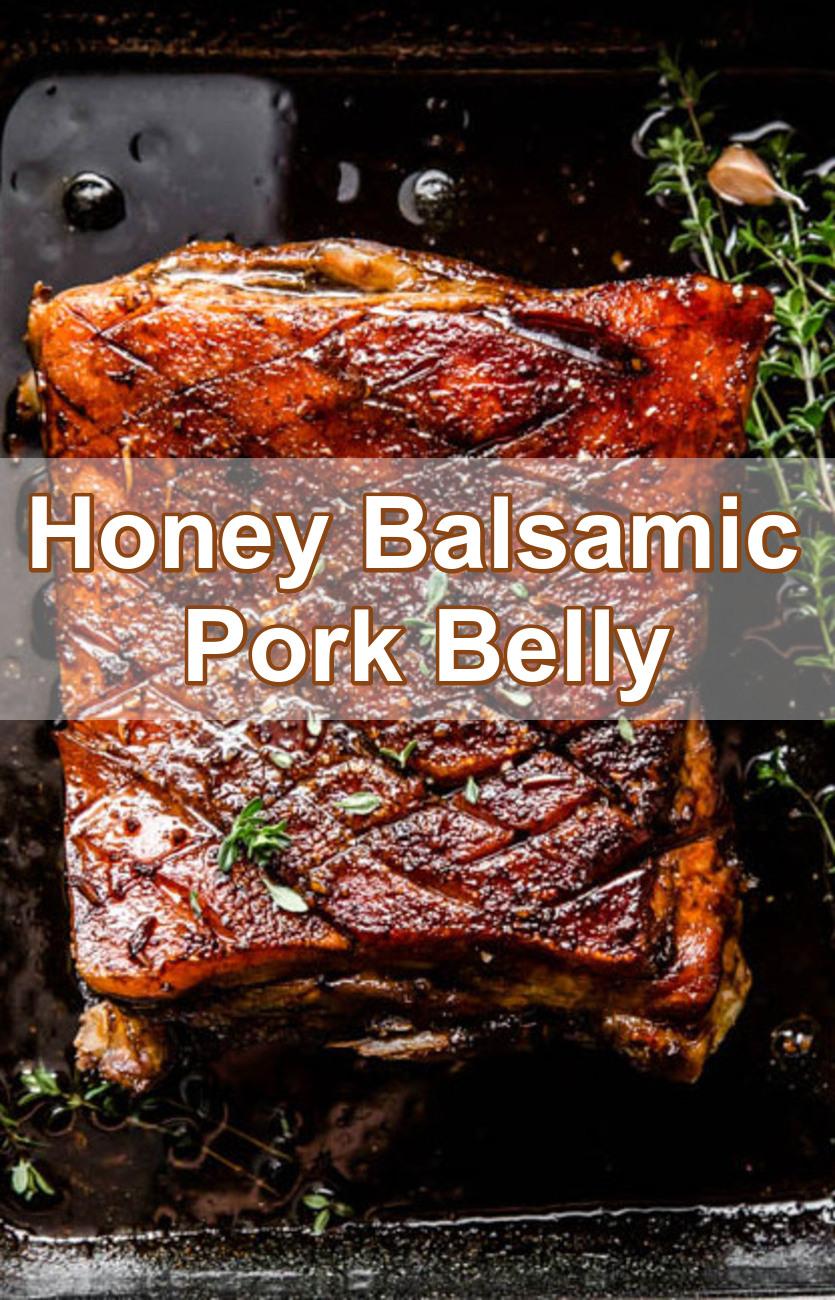 Slow Cooker Pork Belly With Honey Balsamic Glaze
