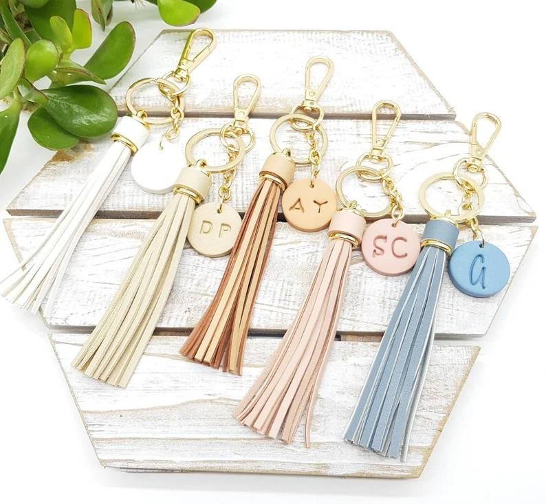 Personalised Tassel Key Ring | Beanstalk Mums