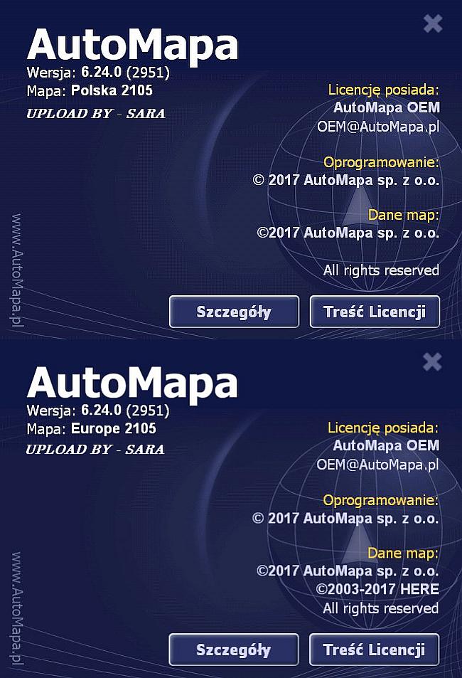 AUTOMAPA 6.24 ( 2105 ) EUROPE & POLSKA FINAL CRACKED / PC - WinCE