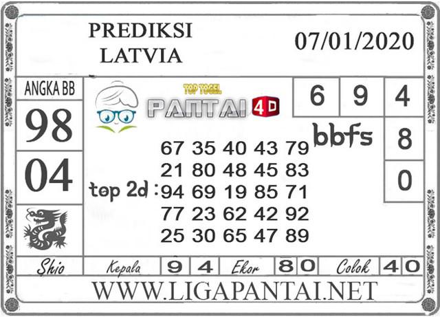 PREDIKSI TOGEL LATVIA PANTAI4D 07 JANUARI 2020