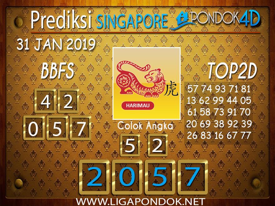 Prediksi Togel SINGAPORE PONDOK4D 31 JANUARI 2019