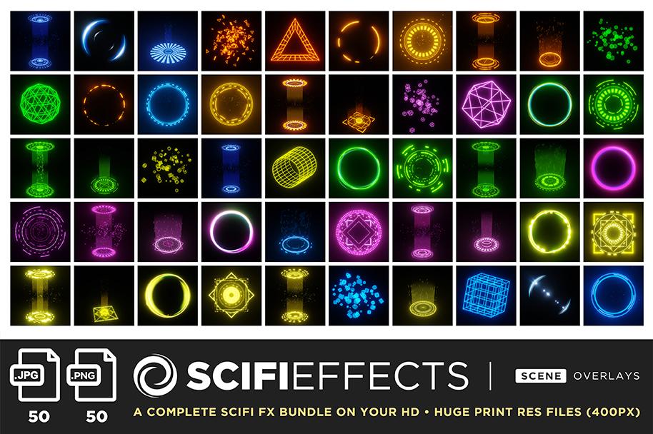 ultimate light fx bundle overlays scifi fx