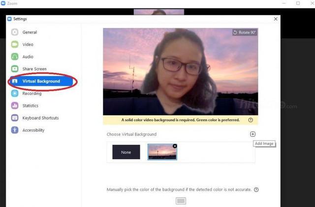 Gadget | Cara Mengganti Background Zoom di PC dan HP