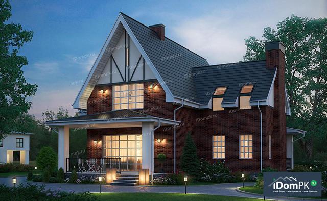 Проект частного дома с высокой мансардой