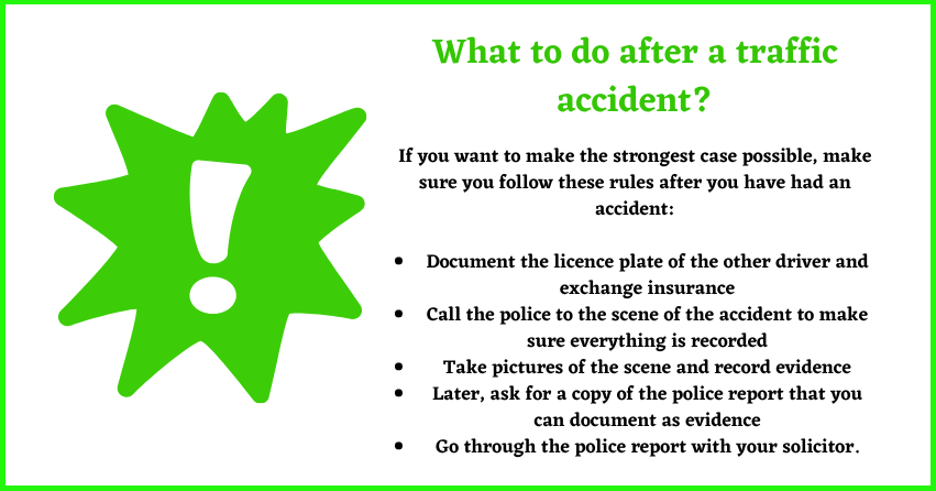 what to do after a traffic accident tip