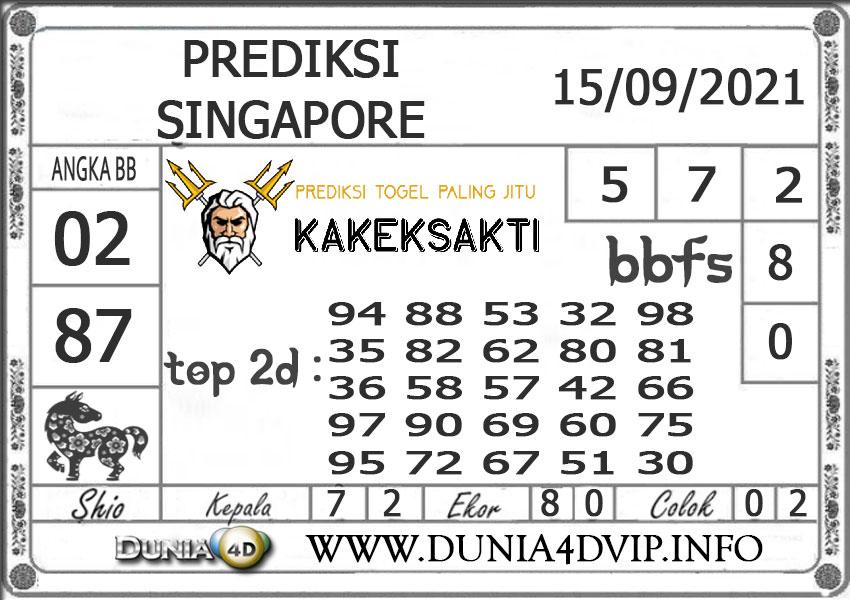 Prediksi Togel SINGAPORE DUNIA4D 15 SEPTEMBER 2021