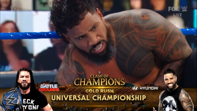 Jey Uso vs Roman Reigns en Clash of Champions