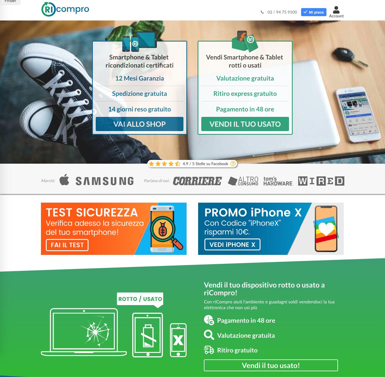 Homepage riCompro.it