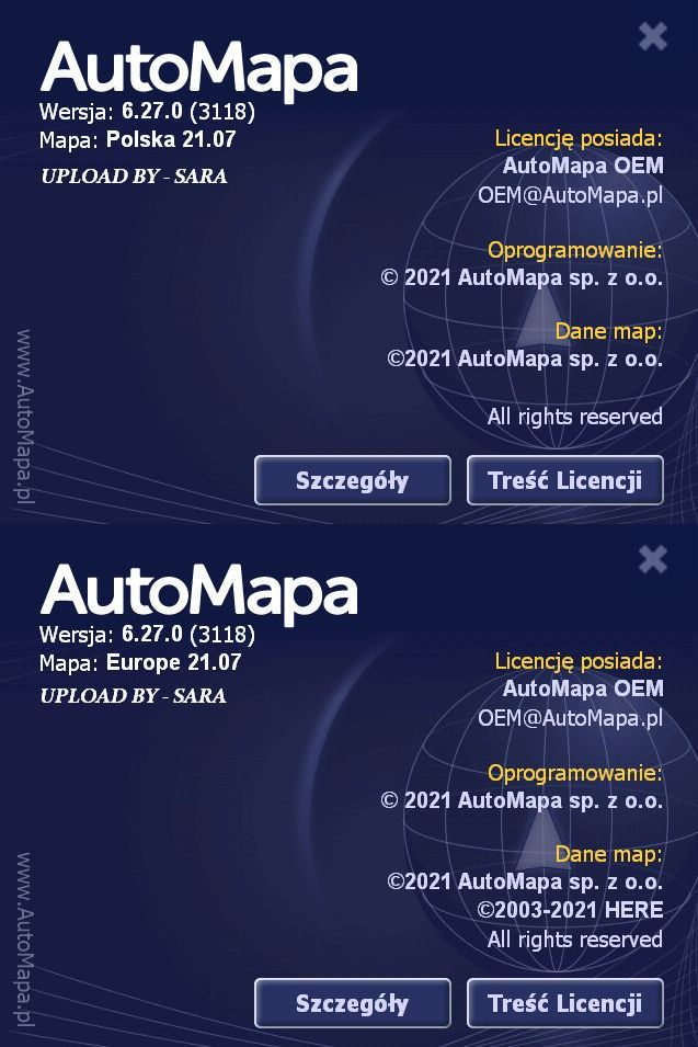 AUTOMAPA 6.27.0 ( 21.07 ) EUROPE / POLSKA FINAL CRACKED ( PC / WinCE ) Poprawiona