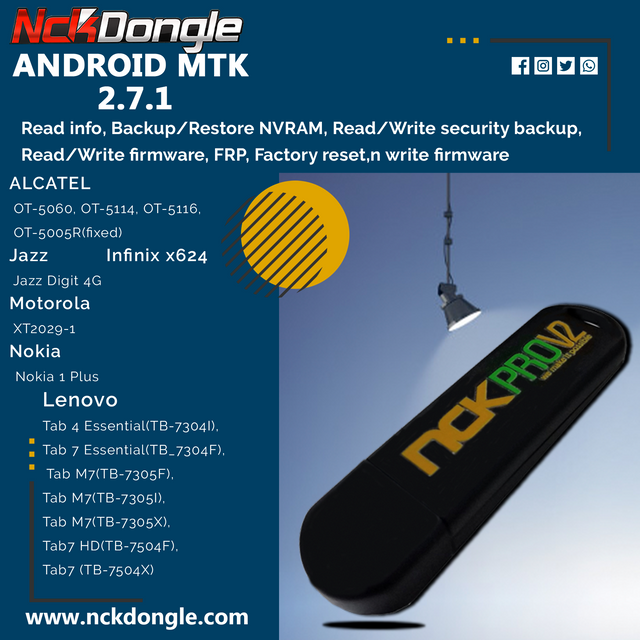 NCK Dongle / NCK Pro Dongle Android MTK v2.7.1 Update Released - [04/09/2020]