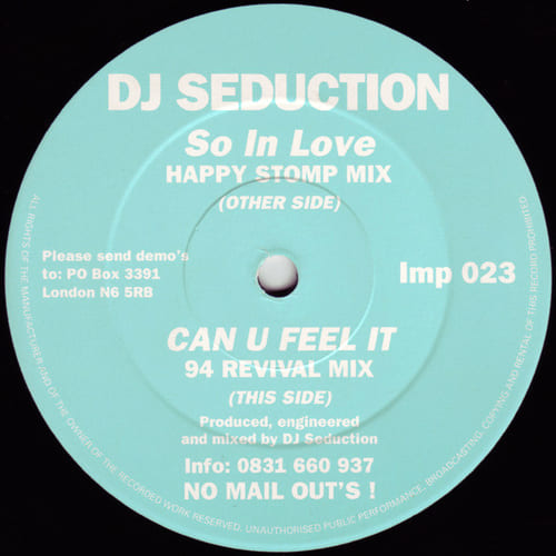 DJ Seduction - So In Love / Can U Feel It (Remixes)