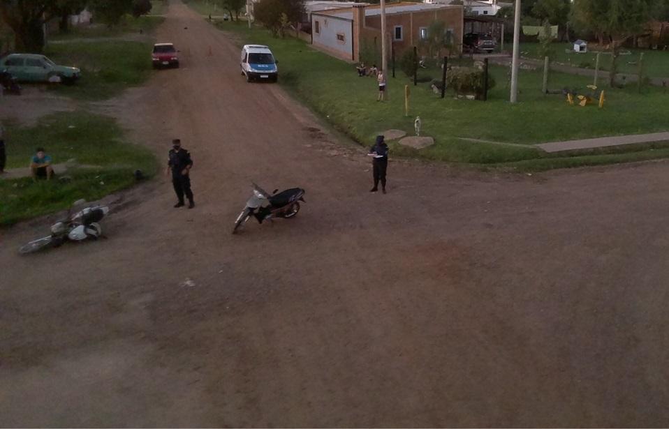 POLICÌA DE VILLAGUAY: Dos menores resultaron lesionados en una colisión entre dos motociclistas